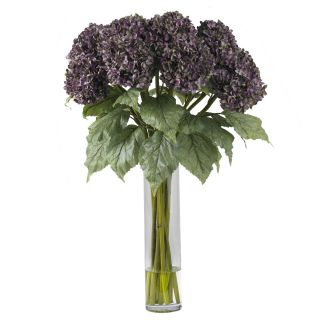 Artificial Silk Hydrangea Purple Fake Flower Arrangement NN1221