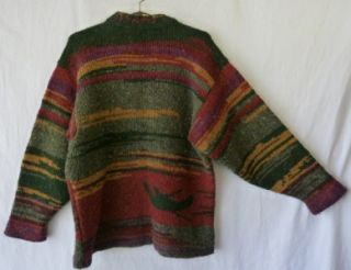 Vtg SIOCHAIN Peace 100% Wool Art to Wear Irish Gaelic Colorful