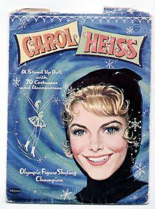 Vintage Whitman Carol Heiss Paper Dolls 1961 Ice Skater