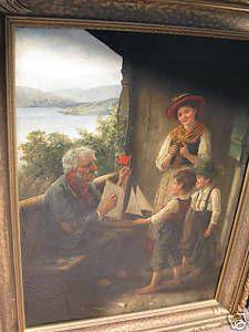 Art Oil Painting Signed Carl Von Bergen 1892 German