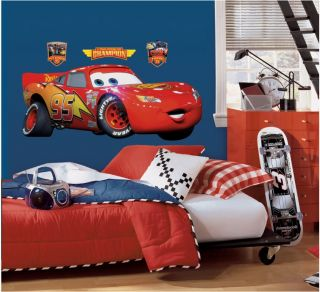 Disney Cars Giant Lightning McQueen Wall Decal Sticker 40 w by