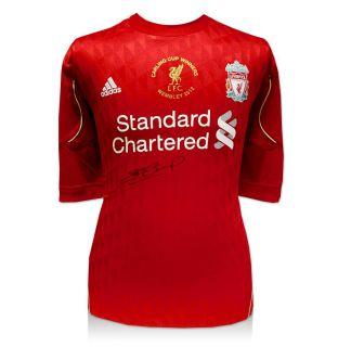 Steven Gerrard Signed Liverpool Carling Cup Final Shirt 2012 Winners
