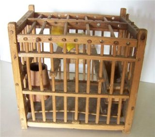 Coal Miners Antique Canary Bird Cage Gas Detection