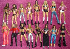 Divas Womens Mattel Basic Elite Battle Pack WWE Wrestling Figures TNA