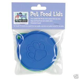 Pet Studio Pet Dog Cat Canned Food Lids 2 Pack