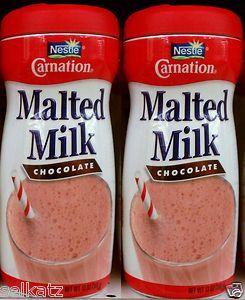 Nestle Carnation Malted Milk Chocolate Flavored Powder Malt 2 Pack