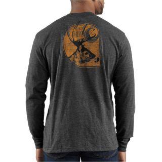 Carhartt Long Sleeve Deer Graphic Logo Tee Carbon Heather 100012 026