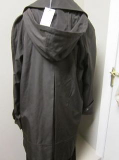 Andrew Marc New York Caroll Raincoat Jacket w Zip Out Liner XS Brown $