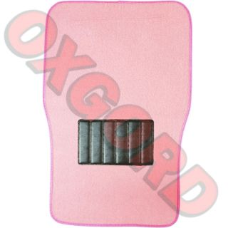 SOLID PINK METRO MAT 4 PC Pads Liner CAR FLOOR Mats Fit Ultra XL