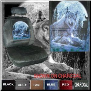 New Wolf in Moonlight Car Truck Van SUV Seat Covers PP