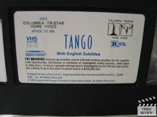 VHS Miguel Angel Sola, Cecilia Narova; Carlos Saura; SPA w/ ENG SUB