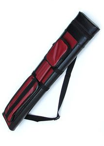 Black 2x2 Hard Tube Pool Cue Billiard Stick Carrying Case 2 x 2
