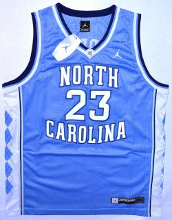 North Carolina 23 Micheal Jordan Blue Jersey Size M L XL 2XL