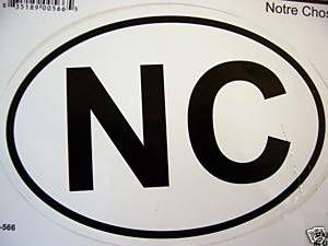 North Carolina Sticker Decal Car Window Truck Bike