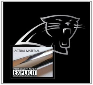 Carolina NFL Panthers Chrome Wall Car Truck Vinyl Decal Skin Sticker