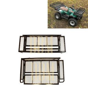ATV Front Rear Basket Cargo Carrier Racks Cargo Racks ATV Racks