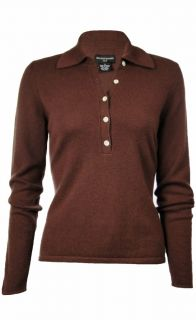Suon Sudio Womens 100 Cashmere Solid Polo Sweaer Assored Sizes
