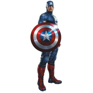 Avengers Captain America Giant Wall Mural Sticker Marvel Heroes Decor