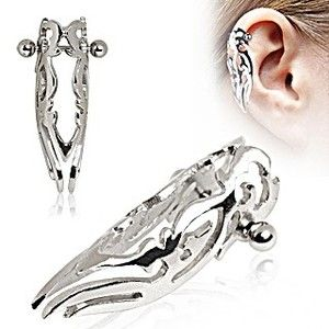 Cartilage Ring Tragus Tribal Logo Helix Cover Piercing Earring