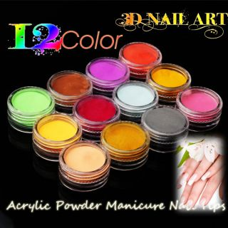 Nail Art Acrylic UV Crystal Dust Design Carve Pattern Powder Set