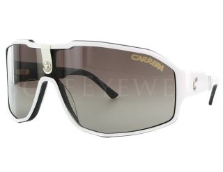 Carrera 36 Mjyjd White Black Brown Shaded Sunglasses