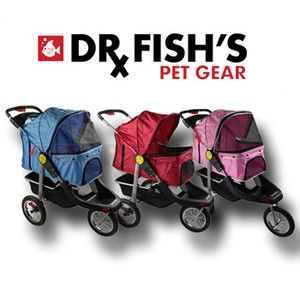 Pet Jogger Jogging Dog Cat Stroller Carrier All Terrain 3 Wheel