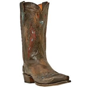 Dan Post Tribute Leather Mens Western Cowboy Boots Nicotine Size 7 13