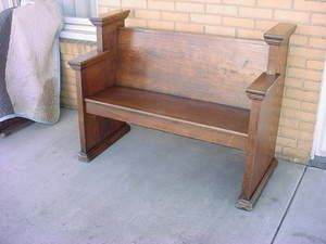 Nice Rustic Chestnut Church Bench Refinished 4 ft NR