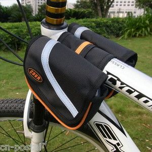 Bike Bicycle Front Tube Frame Bag Case Pouch Pannier Carrying Personal