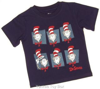 Dr Seuss Cat in The Hat Toddler Boys Navy T Shirt
