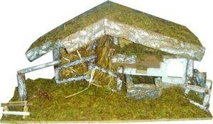 presepe nativita da presepe natalizio capanna in legno con staccionata