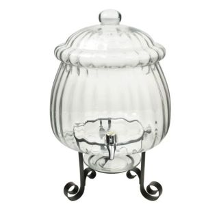 Casa Moda 2 1 2 Gallon Clear Optic Glass Beverage Jar