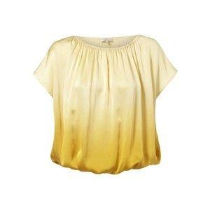Joie 100 Silk Yellow Marigold Top Blouse Caro DIP Dye XS XSmall
