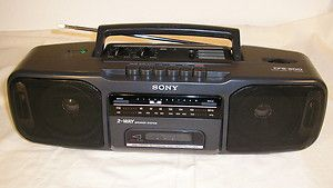 Clean Sony CFS 200 Portable Stereo Boombox AM FM Radio Cassette Deck