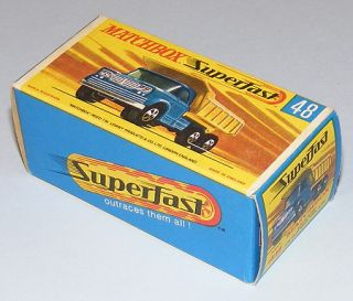 Matchbox Superfast #48 Dodge Dump Truck NEAR MIB