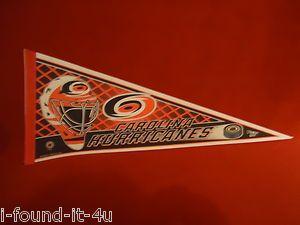Vintage Carolina Hurricanes Felt Helmet Pennant Flag Full size Hockey