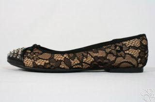 Rachel Roy Rfcastalia Natural Black Studded Ballet Flats Womens Shoes