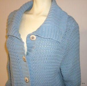 Caslon s Powder Blue Cable Knit Cardigan Sweater Jacket Coat