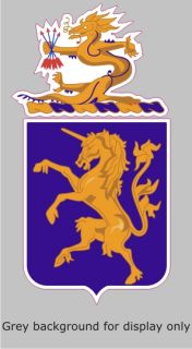 AR 2071 6th Cavalry Regiment COA Army Military Bumper Sticker Decal