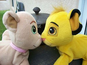 Disneys The Lion King Sweetheart Simba Nala Stuffed Plush Toy