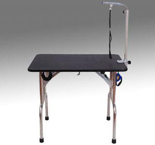 folding pet dog cat grooming table w wheels brand new