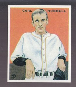Carl Hubbell 1983 Reprint of 1933 Goudey Card by Renata Galasso 234