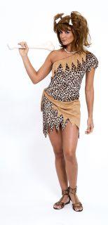cave woman girl leopard dress costume adult medium