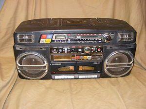 Vintage Lasonic CDX 931 Boombox Radio Cassette Deck CD