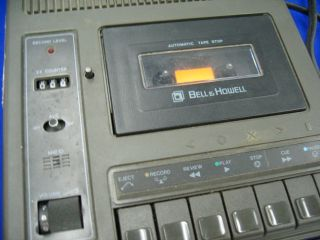 Bell Howell 3179A Cassette Tape Recorder Player Pro AC