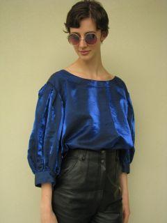 Vintage 80s CARLA ZAMPATTI DESIGNER Puff Sleeve BLOUSE Top Shirt