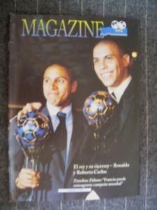 FIFA Magazine Issue February 1998 Ronaldo R Carlos