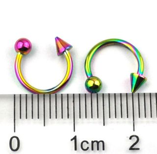 multicolor cartilage RINGS Horseshoe EARRING piercing jewelry CBR090