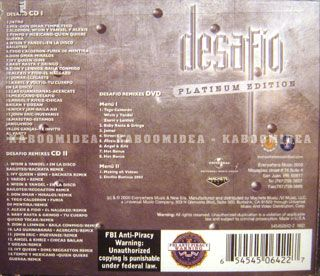 Desafio Varios Box 3 CD New Don Omar Tempo TEGO Calderon WISIN Y