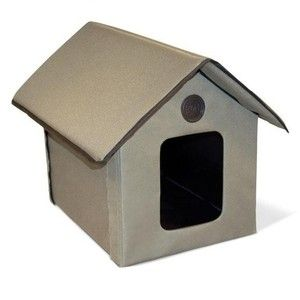 OUTDOOR HEATED CAT HOUSE ENCLOSURE KH3993 OUTDOOR HEATED CAT BED NEW
